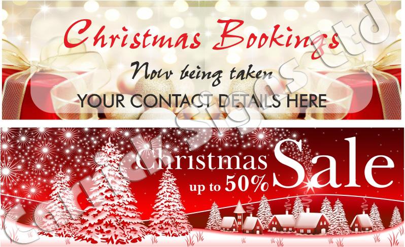Christmas Banners.Christmas Booking Banners Christmas Signs Printing Boards