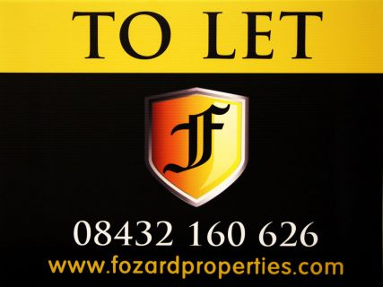 to let estate agent board