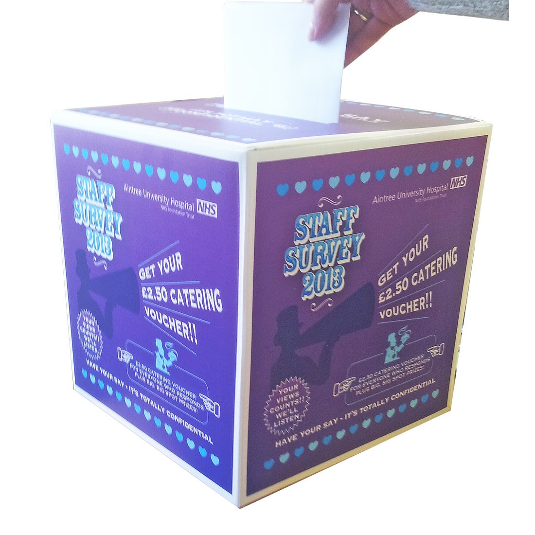 Suggestion Collection Feedback Survey Ballot Box in Flat ... |Survey Box