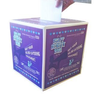 large printed survey boxes