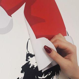 removable easy dot vinyl sticker